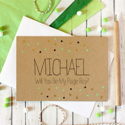 Personalised Page Boy Card. Will You Be My Page Boy. Card to Ask Page Boys. Be My Page Boy Card. Page Boy Wedding Card. Page Boy. Be My Page