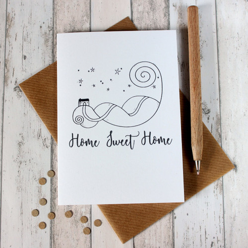 Home Sweet Home Card. Moving House Card. New Home Card. Home Sweet Home. Hand Drawn Illustration. Illustration. Black and White. Cards