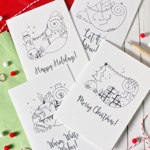 Christmas Card Pack. Pack of Christmas Cards. Illustrated Christmas Cards. Christmas Cards. Xmas Card. Holiday Cards. Card Pack. Xmas Cards.