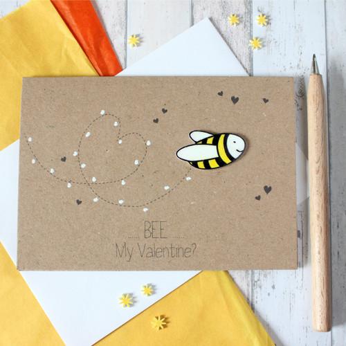Valentine - Bee my Valentine? Valentine's Day Card