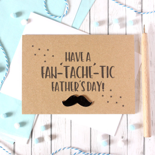 Step-Dad Father's Day Card, Fan-Tache-Tic Dad, Card for Dad, Tash Card