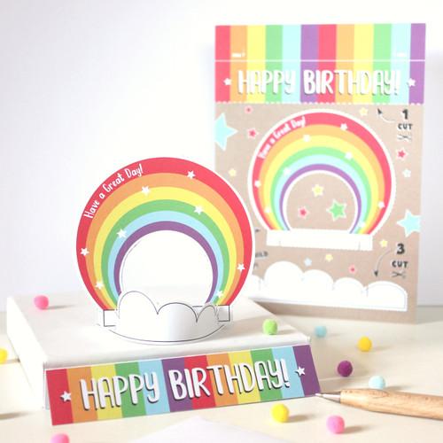 Fun Rainbow Card, Birthday Card