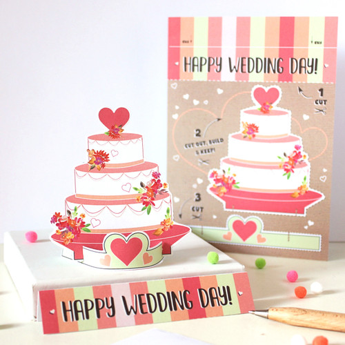 Happy Wedding Day Keepsake Card
