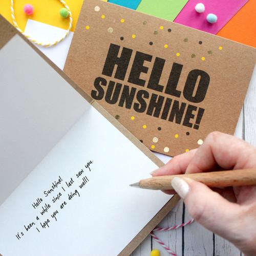 Hello Sunshine Hello Card