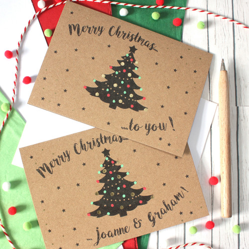 Personalised Traditional Christmas Card