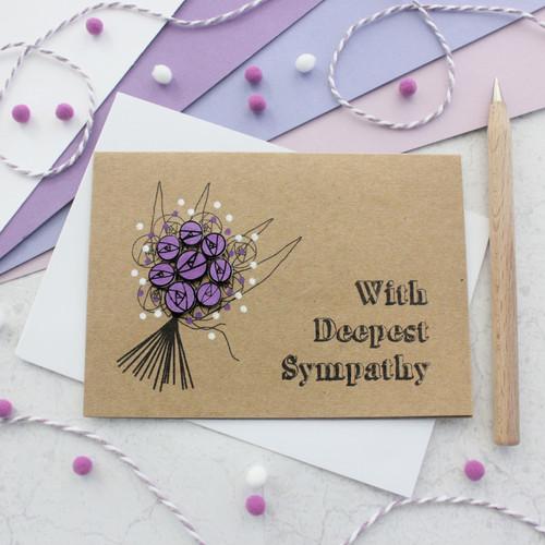 Sympathy Card - Deepest Sympathy