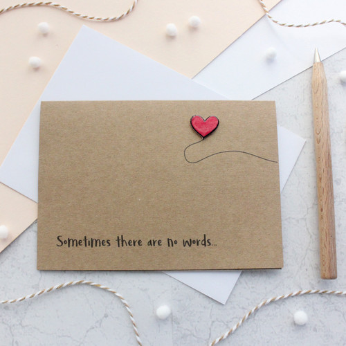 Sometimes there are no words card