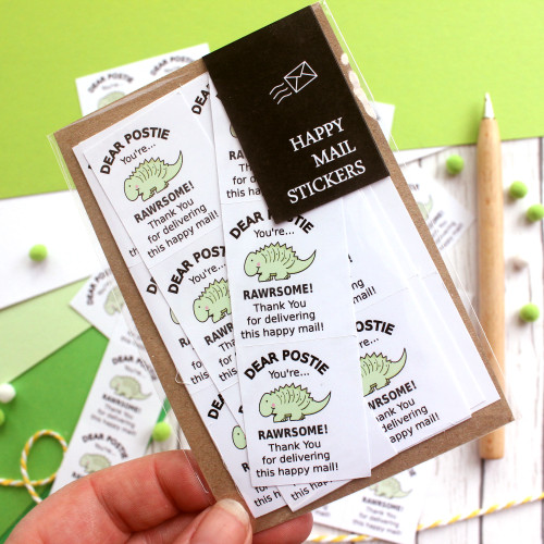cute dinosaur waterproof stickers