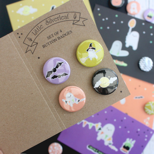 Cute Halloween Badge Set