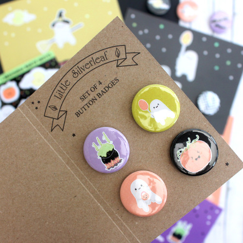 Halloween badge set