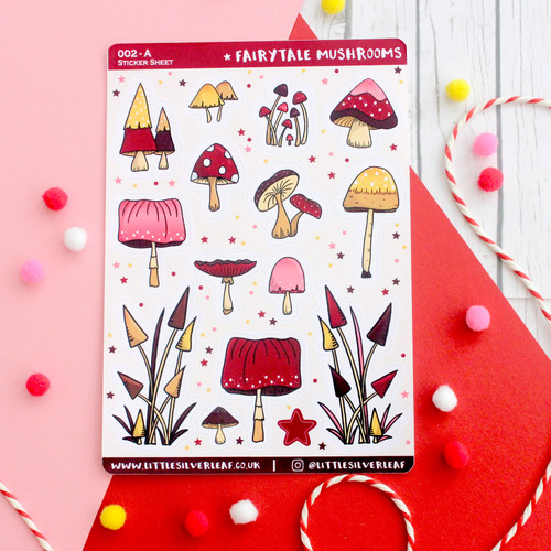 Fairytale Mushroom Sticker Sheet