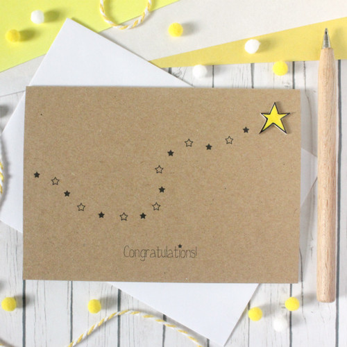 Congratulations Card. Handmade Congratulations Card. Congratulations. Well Done Card. Exam Congratulations Card. You're a Star Card. Star