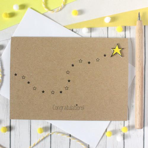 Congratulations Card. Handmade Congratulations Card. Congratulations. Well Done Card. Exam Congratulations Card. You're a Star Card. Star