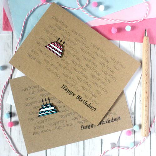 Handmade Happy Birthday Card. Happy Birthday Card. Birthday Cake Card. Birthday Card. Birthday Cake. Pink Cake. Blue Cake. Birthday Cards