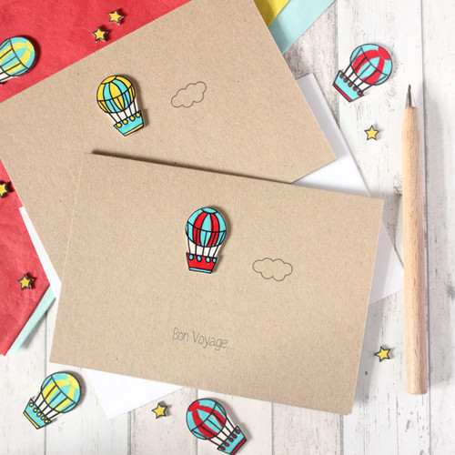 Bon Voyage / Goodbye / Leaving Cards - Hot Air Balloons