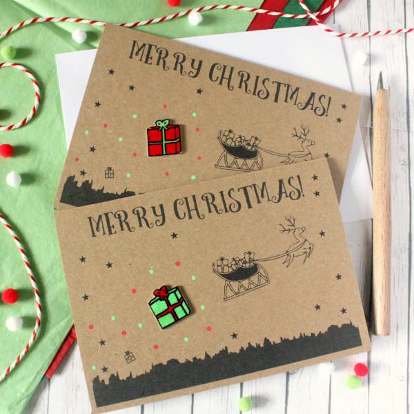 Handmade Christmas Card Images.Christmas Merry Christmas Christmas Present Card