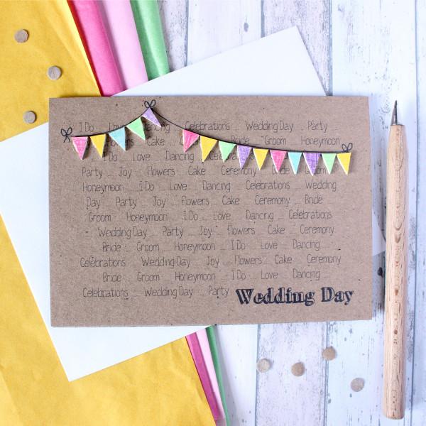 Wedding Personalised Wedding Day Congratulations Card Little