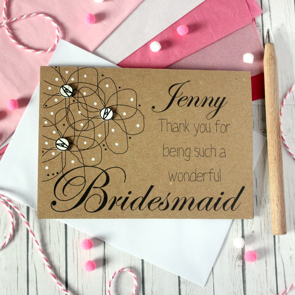 Wedding Personalised Thank You For Being My Bridesmaid Wedding