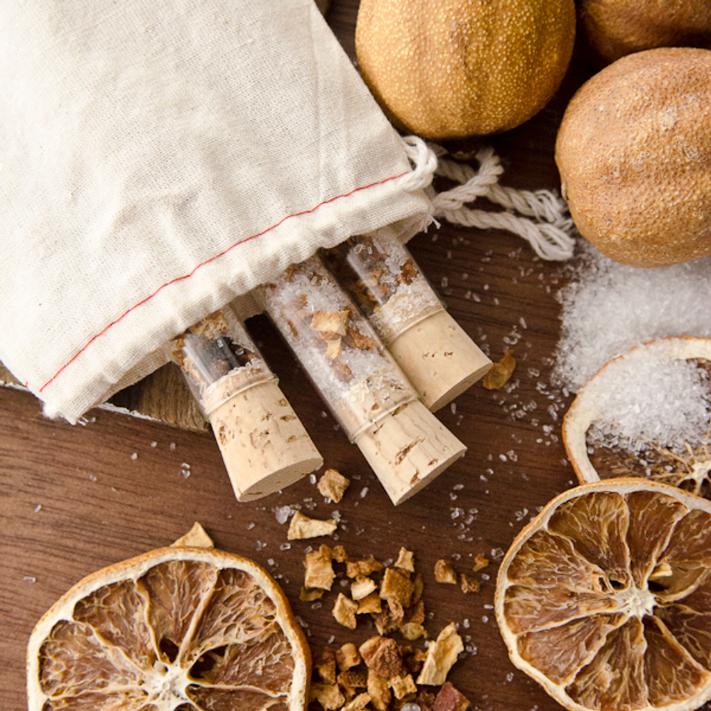 Orange Peel Bath Salts Vials DIY Kit