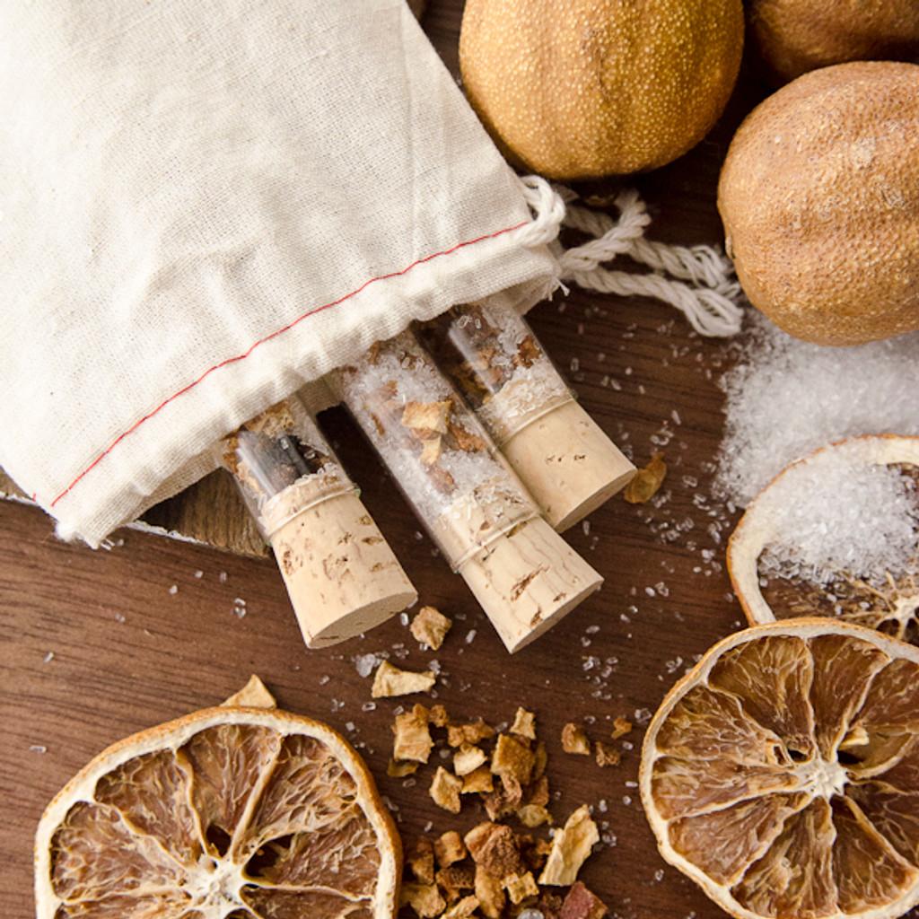 Orange Peel Bath Salts Vials DIY Kit