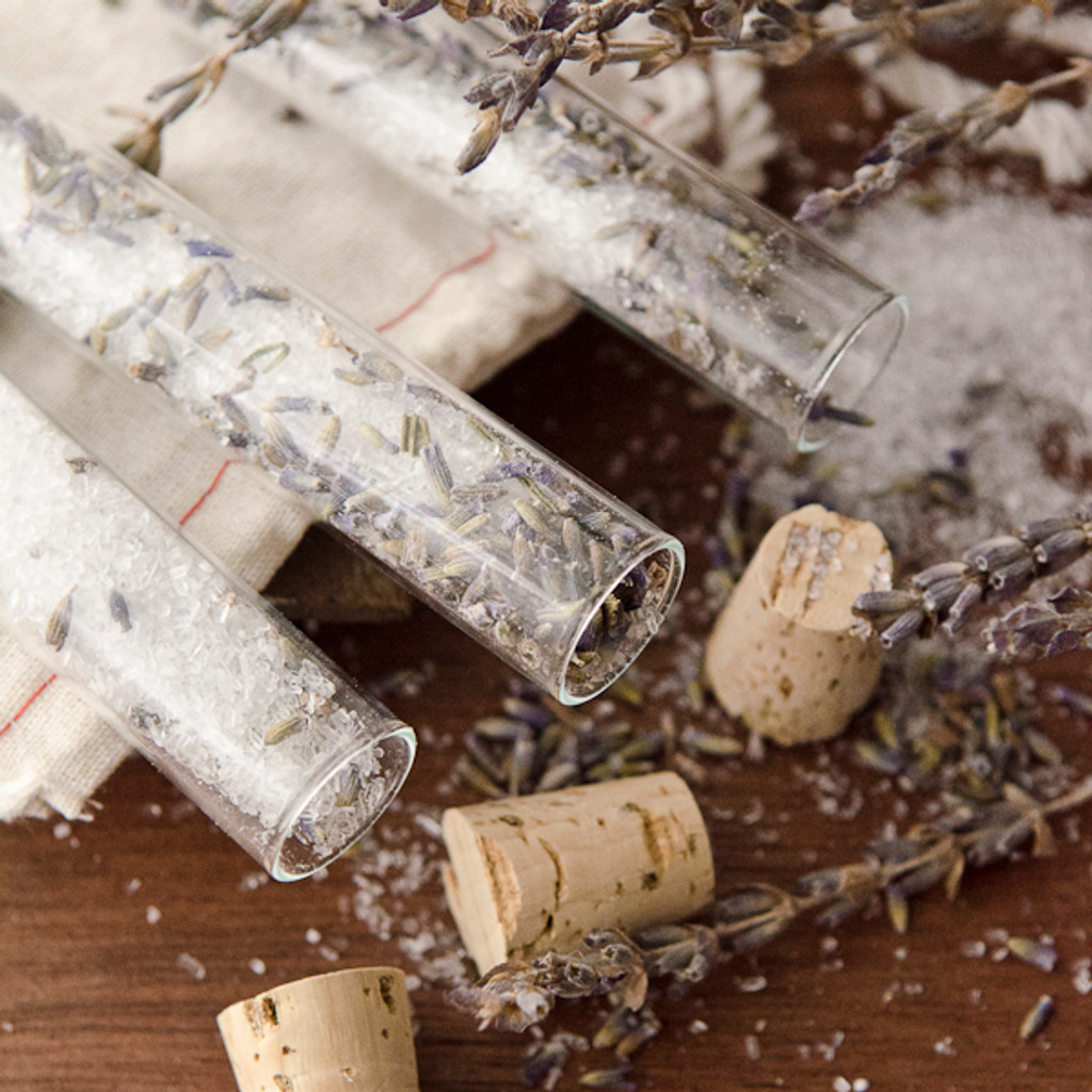 Lavender Bath Salts Vials DIY Kit