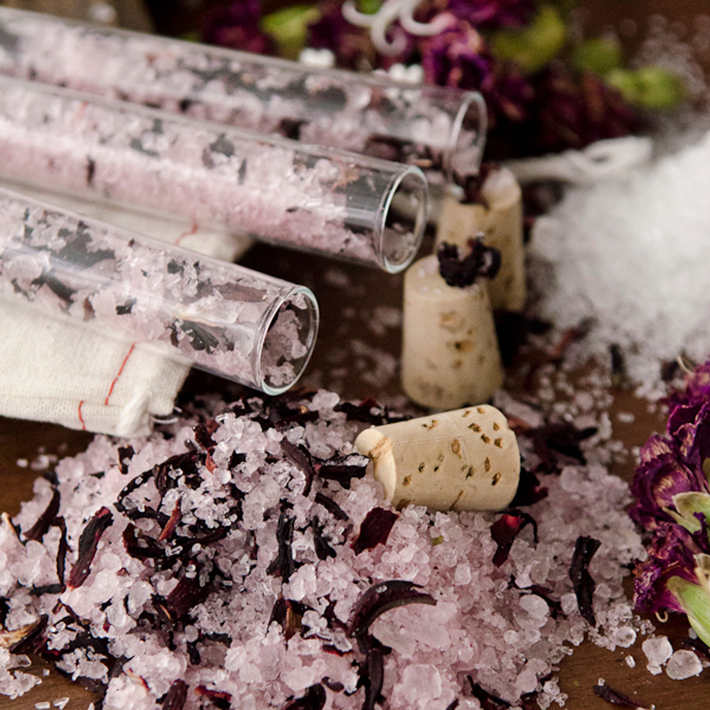 Hibiscus Bath Salts Vials DIY Kit