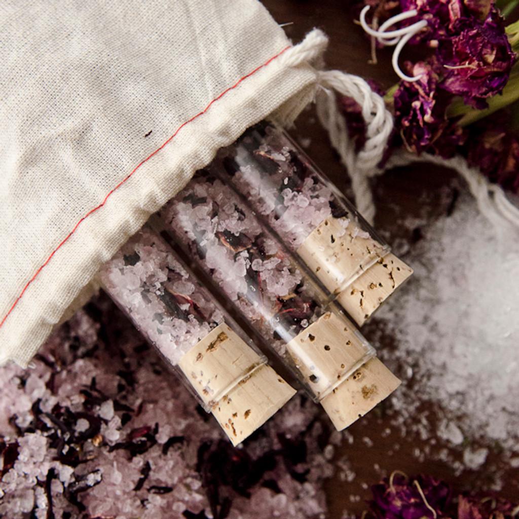 Hibiscus Bath Salts Vials DIY Kit
