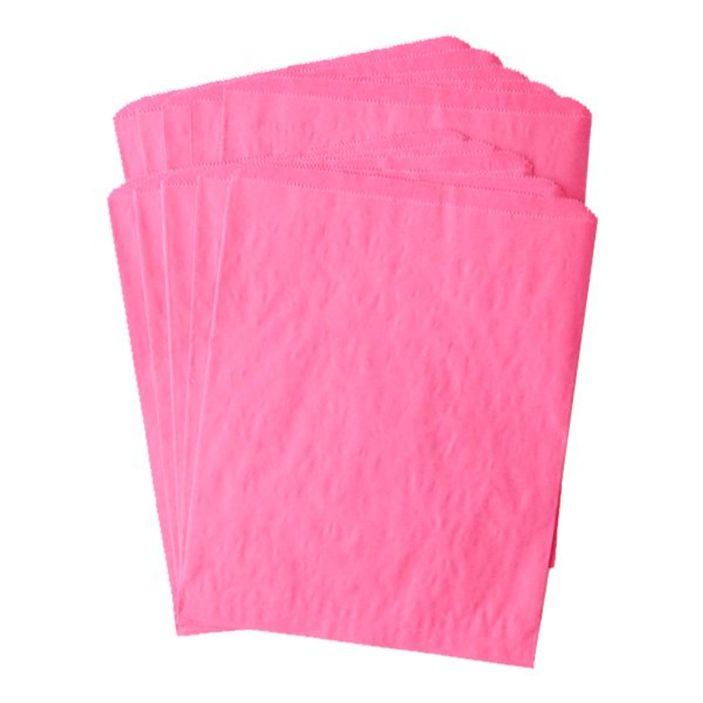Pinch Bottom Paper Bags Large Magenta 12 x 15 inches