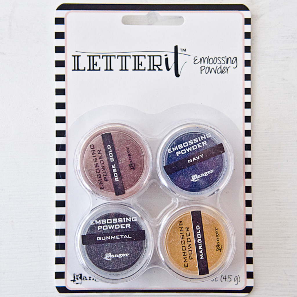 Letter It Embossing Powder 4 Pack, Metallics