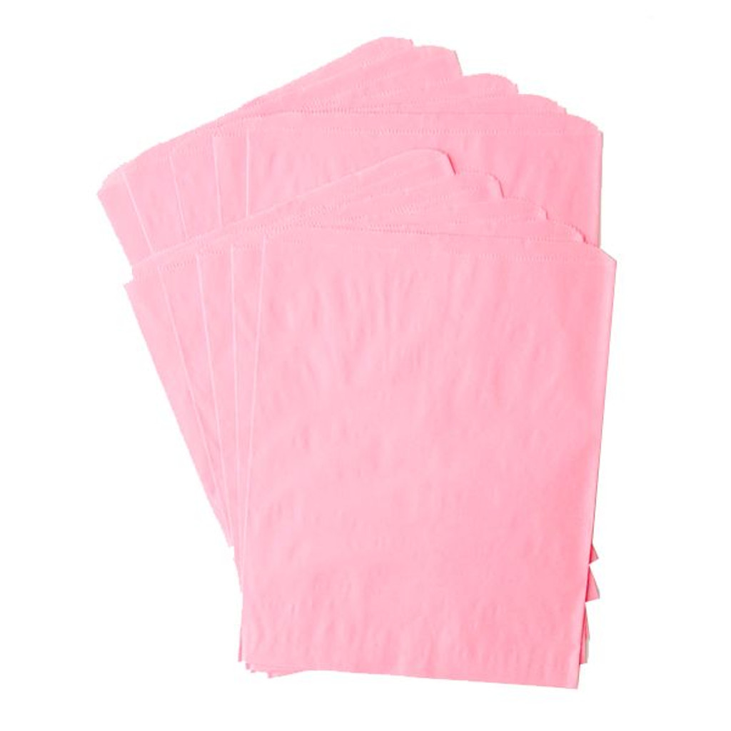 Pinch Bottom Paper Bags Large Pink 12 x 15 inches