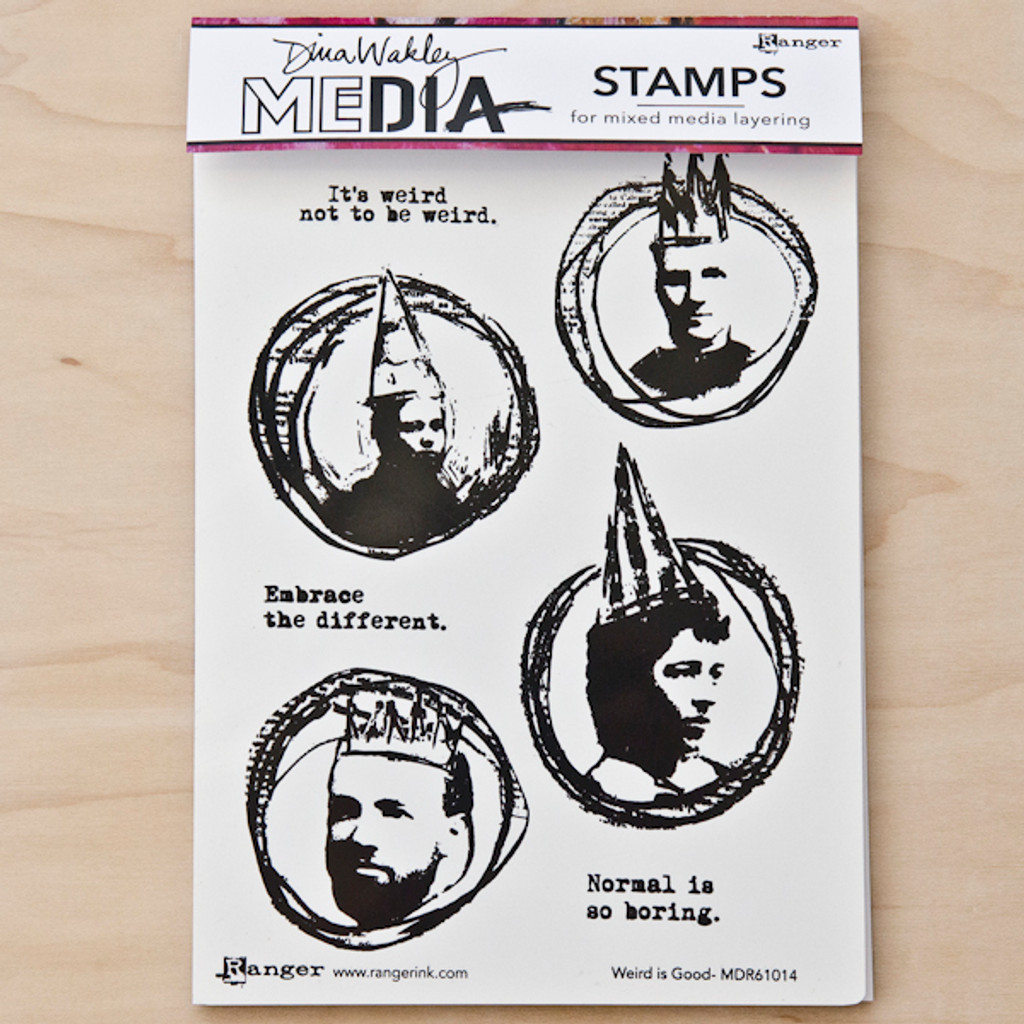 Dina Wakley Stamps — Weird is Good
