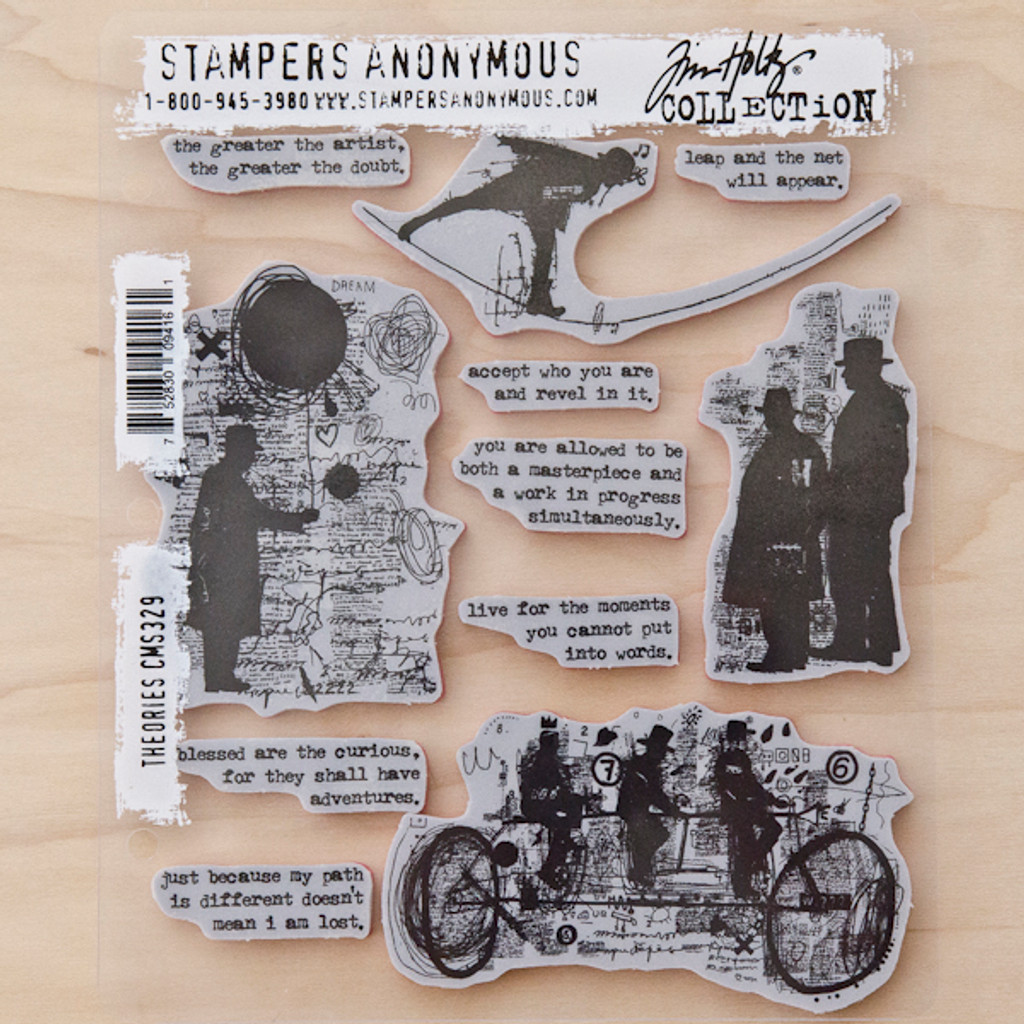 Stampers Anonymous Tim Holtz Cling Stamps Theories