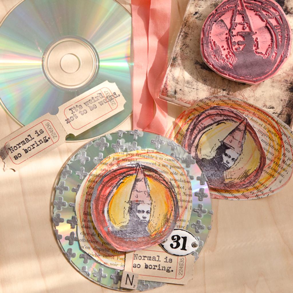 Weird is Good CD Suncatchers Project