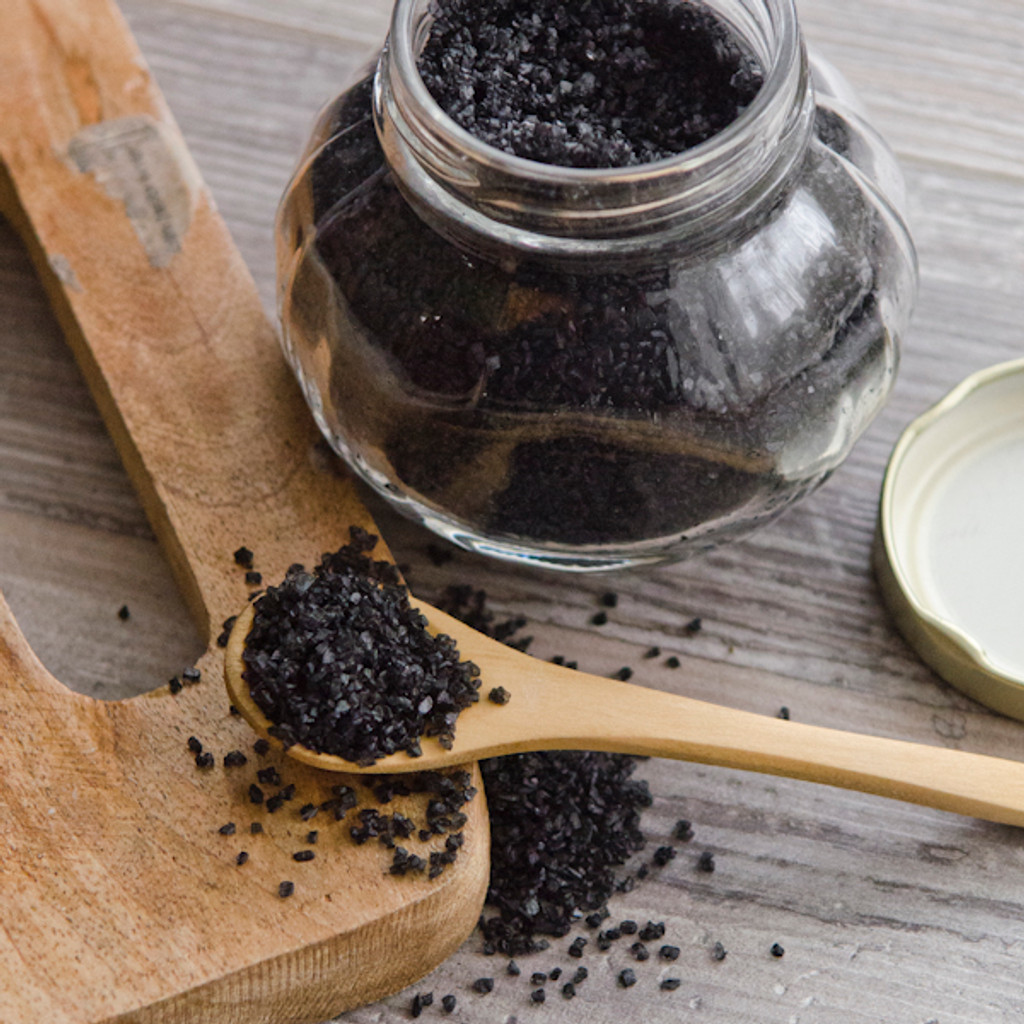 Black Lava Salt Jar