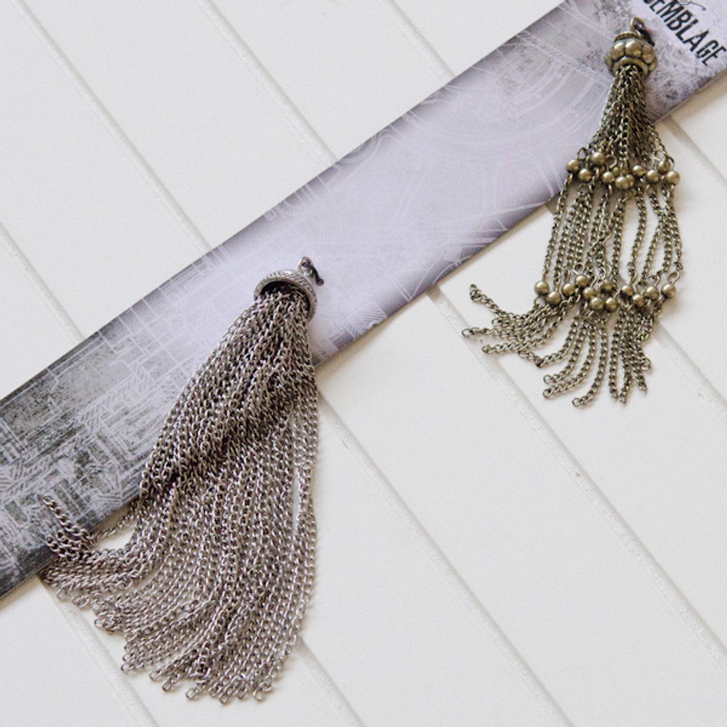 Tim Holtz Assemblage Charms — Large Tassels