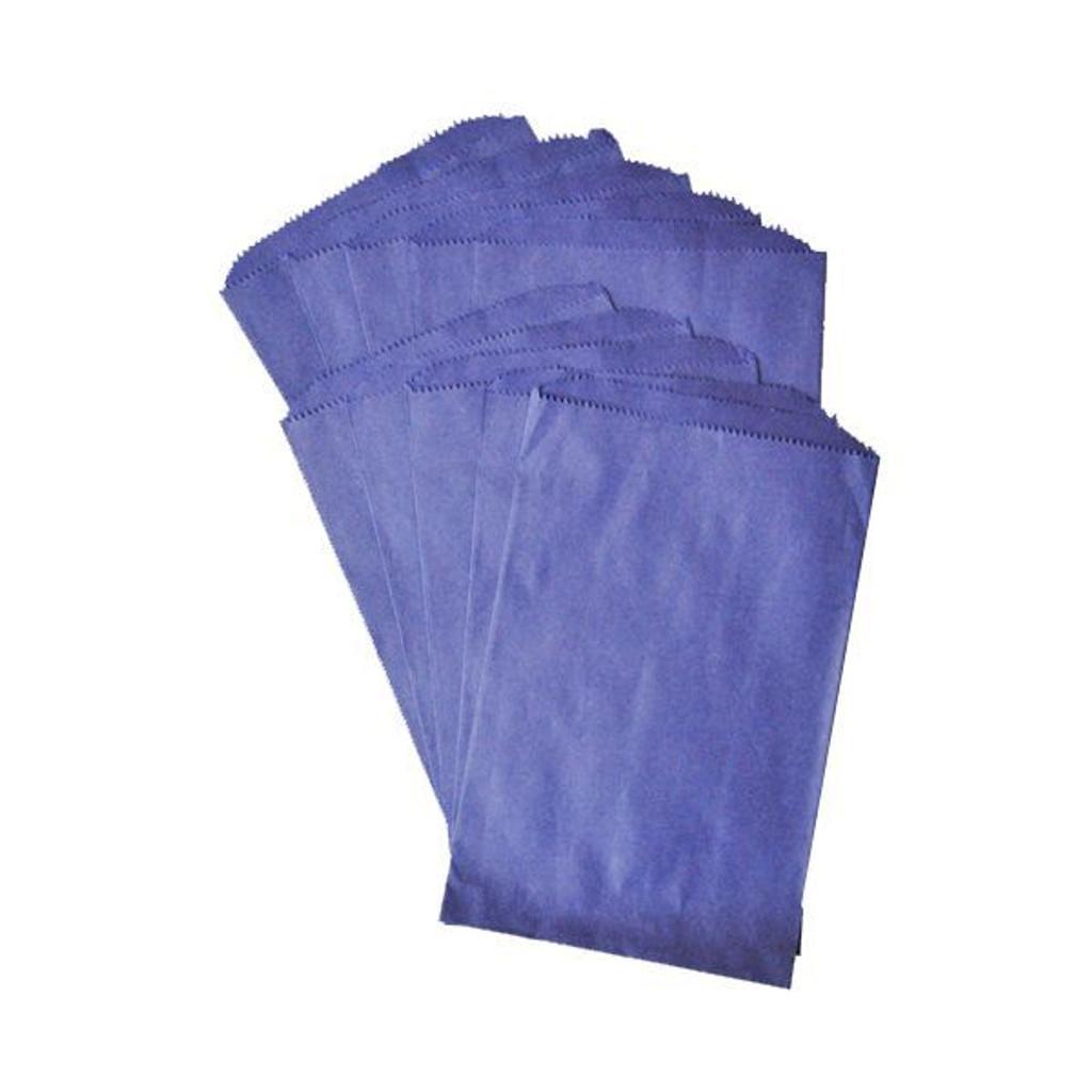 Pinch Bottom Paper Bags Medium Navy Blue 6 x 9 inches