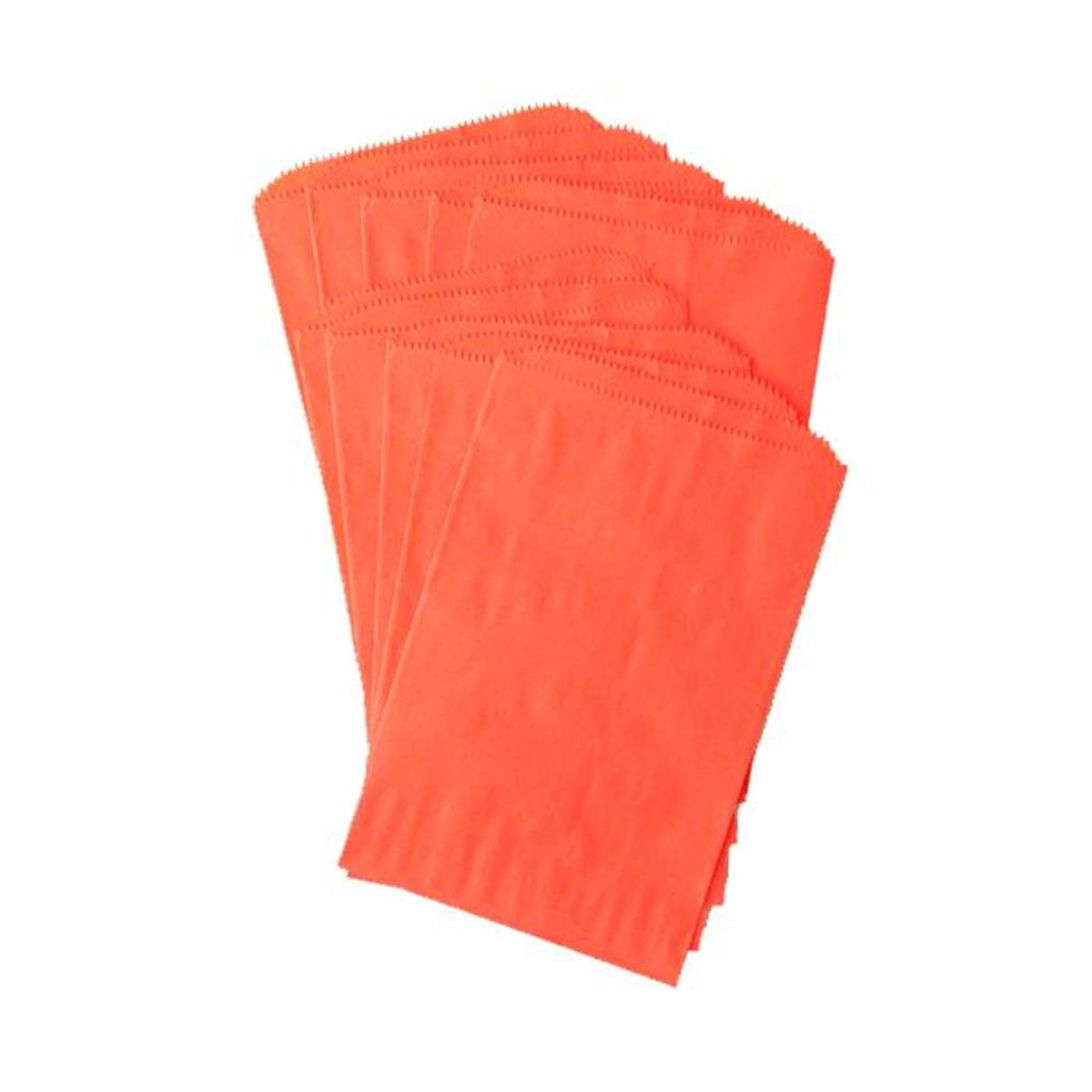 Pinch Bottom Paper Bags Medium Orange 6 x 9 inches