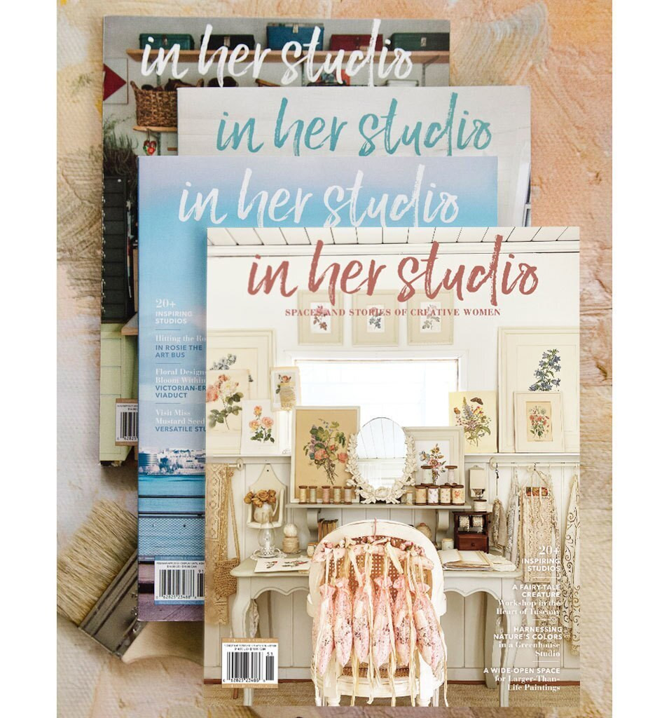Free Apron with In Her Studio Subscription Offer