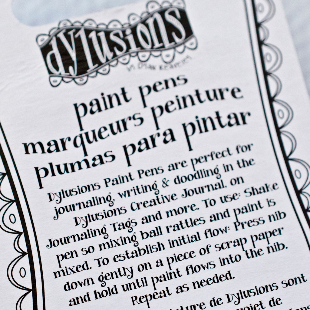 Dylusions Paint Pens Black and White, 2pc