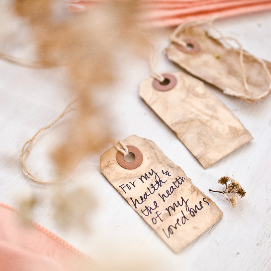 Handmade Gratitude Place Cards by Christen Hammons
