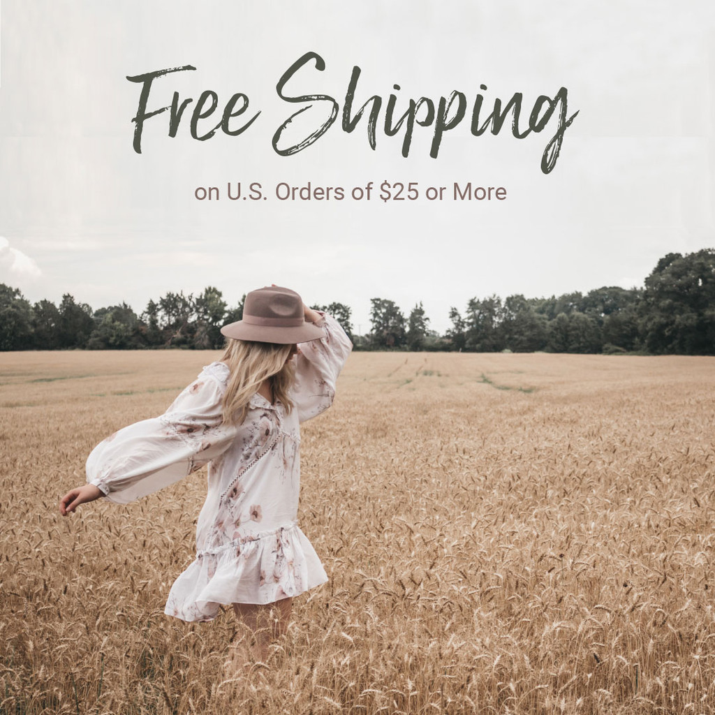 Free Shipping on Orders of $25 or More (U.S. Only)