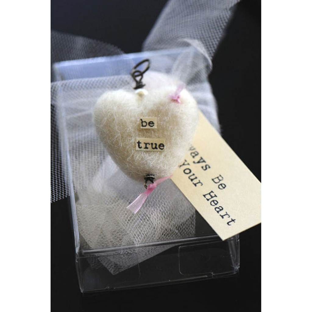Heartfelted Sentiment Charm Silver Pearl — D'shire Creme