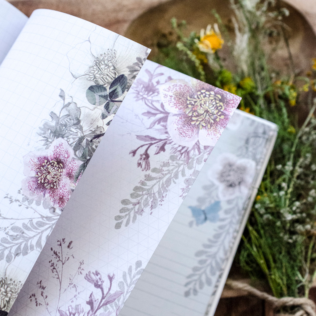 Golden Petals Journal  by Papaya Art