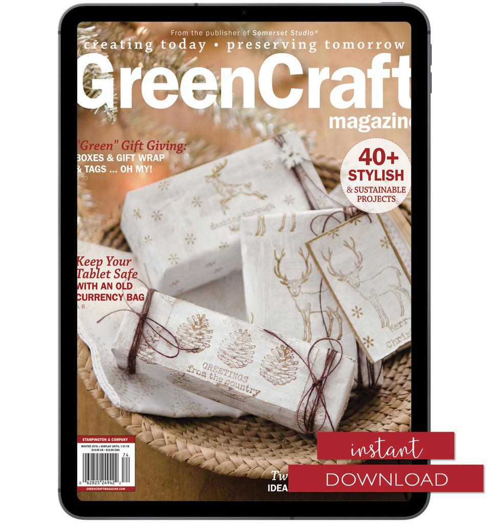 GreenCraft Magazine Winter 2018 Instant Download