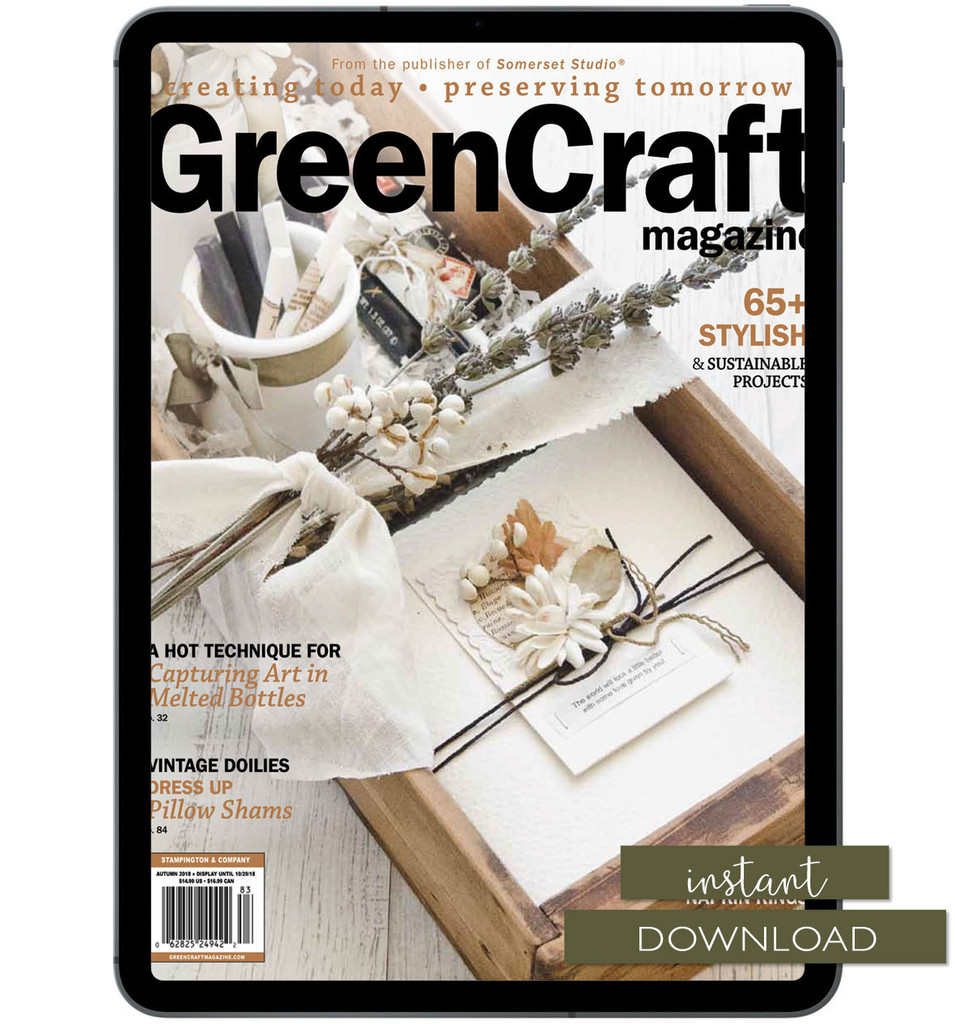 GreenCraft Magazine Autumn 2018 Instant Download