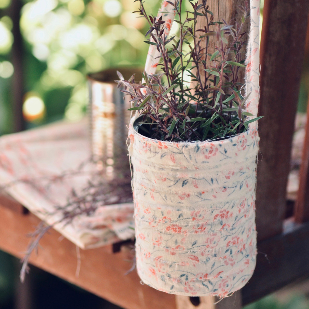 Upcyled Cans Hanging Planter Project by Christen Hammons