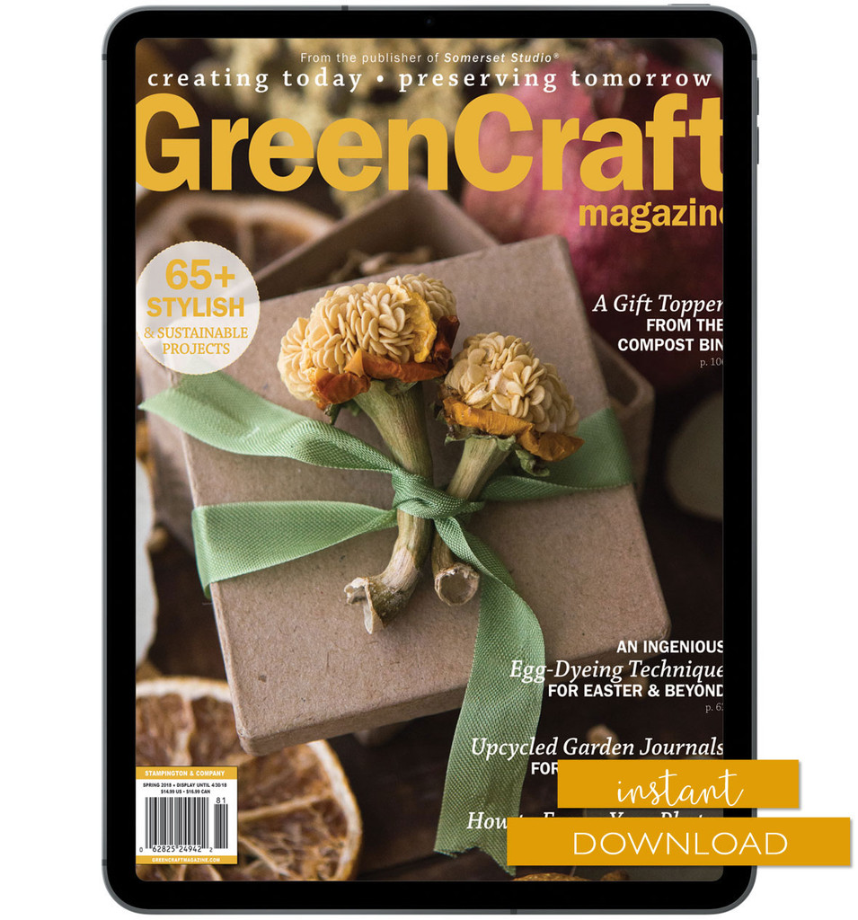 GreenCraft Magazine Spring 2018 Instant Download