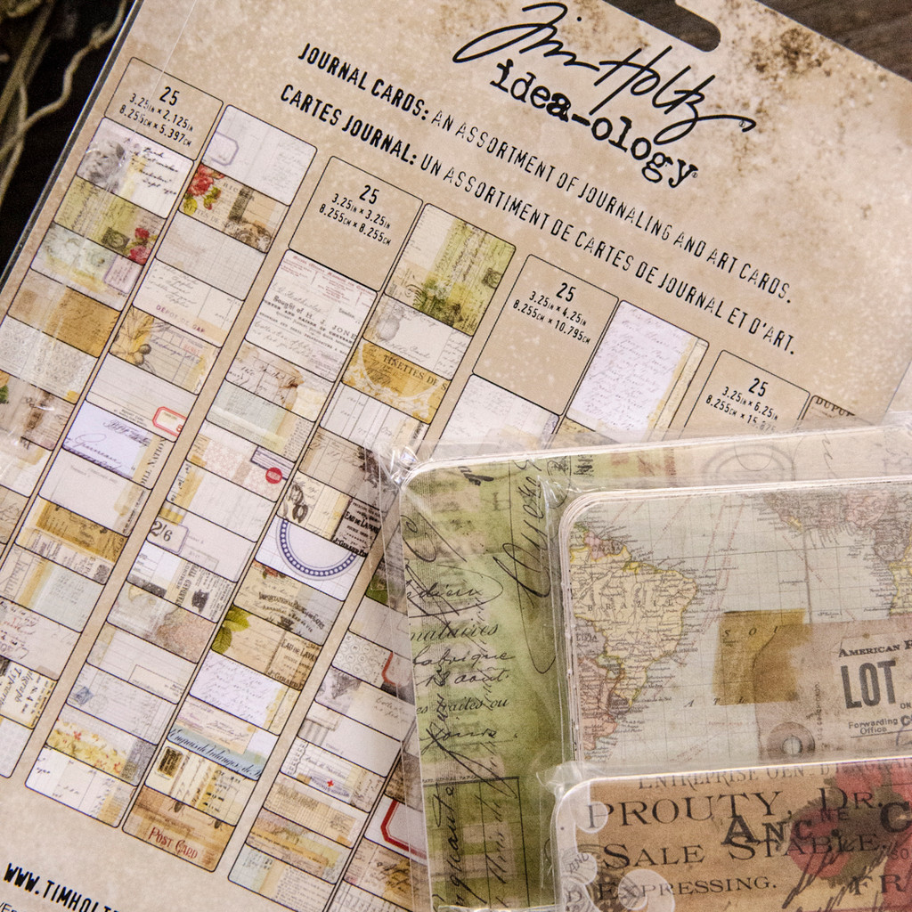 Tim Holtz Ideaology Journaling Cards