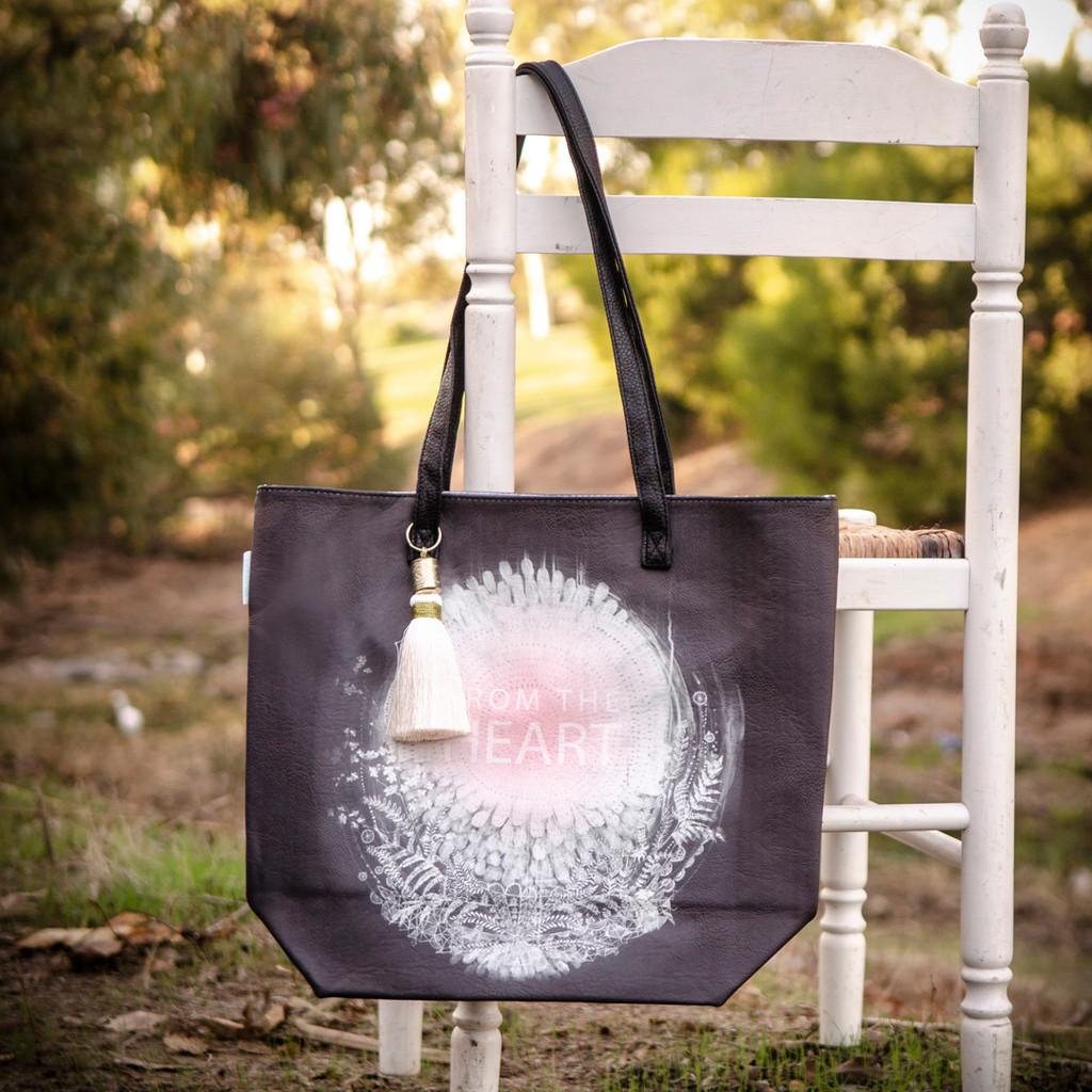 From the Heart Bucket Tote by Papaya Art