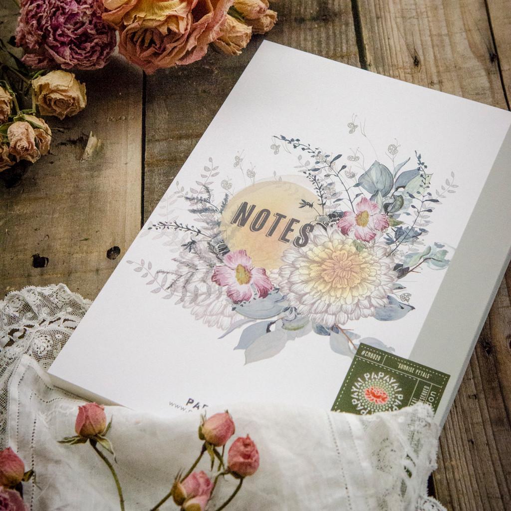 Sunrise Petals Clothbound Notebook by Papaya Art